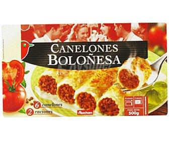 Auchan Canelón Boloñesa 500g