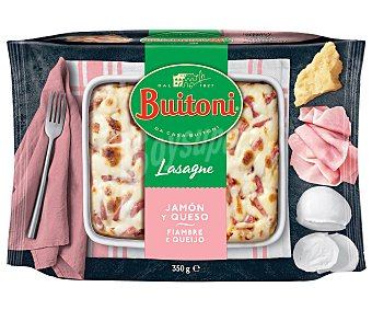 Buitoni Lasaña rellena de jamón cocido y queso elaborada con pasta fresca al huevo 350 g