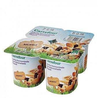 Carrefour Yogur desnatado con muesli Pack de 4 unidades de 125 g