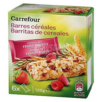Carrefour Barritas de cereales con frutos rojos Carrefour 126 g