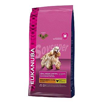 Eukanuba Pienso para perros adultos medianos Eukanuba Medium Weight Control pollo 3 kg