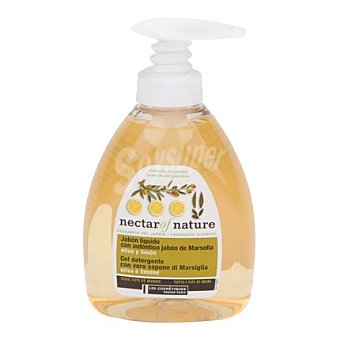 Les Cosmetiques Jabón líquido con autentico jabón de Marsella oliva y limón - Nectar of Nature 300 ml