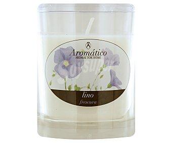 AROMÁTICO Vela en vaso perfumada de 8 centímetros con olor a lino 1 Unidad