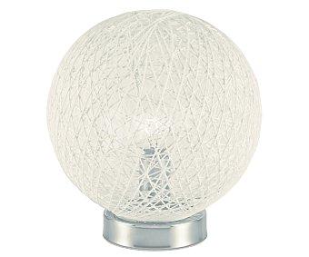 DUPI Lámpara de sobremesa para bombillas E14 de hasta 40 Wattios, modelo Exótico New, color blanco 1 unidad