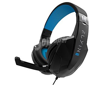 Indeca Auriculares gaming con micro compatibles con Ps4, Xbox One, Switch, Pc y Mac, color negro, Fuyin 2 indeca