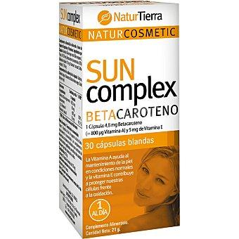 NaturTierra Betacaroteno ayuda al mantenimiento de la piel y protege contra la oxidación ápsulas Bote 30 c