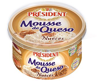 President Crema de queso para untar con nueces Tarrina 100 g