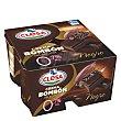 Crema bombón Chocolate negro 0% pack de 4x125 g Clesa