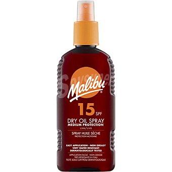 Malibu Aceite protector solar seco FP-15 resistente al agua spray de 200 ml