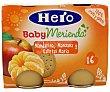 Puré de frutas: mandarina, manzana y galletas maría 2 unidades de 200 gramos Hero Baby