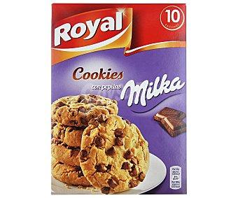 Royal Preparado para hace cookies con pepitas de chocolate Milka (10 raciones) estuche 280 g