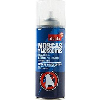 Aliada Insecticida voladores moscas y mosquitos concentrado perfume limón Spray 400 ml