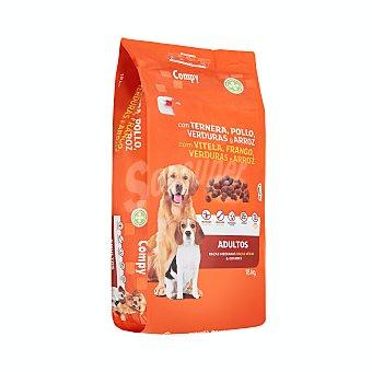 Compy Comida de perro seca mix con ternera, pollo y verduras adulto razas medianas y grandes Paquete 18 kg