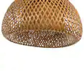 Dupi Lámpara de techo fabricada con resistente bambú natural, diseño de trenzas, 41 cm, DUPI-.