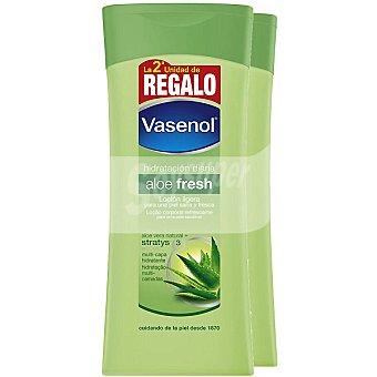 VASENOL Aloe Fresh Loción corporal refrescante hidratación diaria Pack 2 frasco 400 ml
