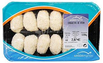 Unión Martín Croquetas frescas de atun Bandeja 350 g peso aprox