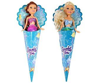 SPORKLE GIRLS Mini-Muñecas con forma de Sirena en cucurucho 1 Unidad