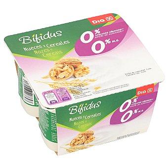 DIA Bífidus con nueces y cereales 0% M.G pack 4 unidades 125 gr pack 4 unidades 125 gr