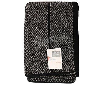 AUCHAN Toalla de ducha de hilo tintado color negro, estampado jacquard, 500 gramos/m², 70x140 centímetros 1 Unidad