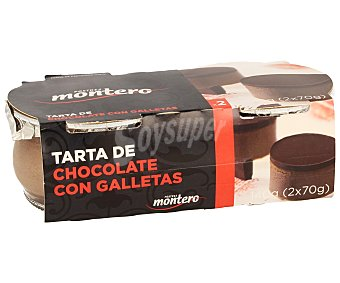 Montero Tarta de chocolate con galleta Pack 2x80 g