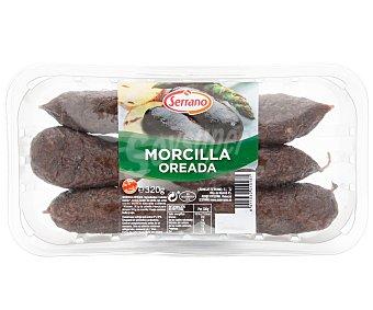 Carnicas Serrano Morcilla oreada de primera sin gluten 400 gramos