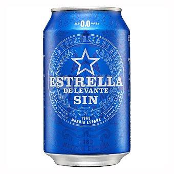 Estrella Levante Cerveza rubia sin alcohol Lata de 33 cl