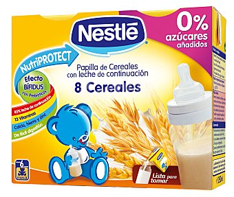 NESTLÉ Pijama Leche con 8 cereales estuche 500 ml Pack 2x250 ml