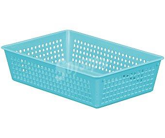 ARAVEN Cestita rectangular calada de 24x16x5.8 centímetros, fabricada en plástico 1 Unidad