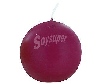 AUCHAN Vela con forma de bola de 60 milímetros y de color fucsia 1 Unidad