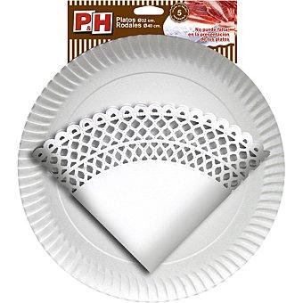 P & H Rodal 40 cm con plato de cartón 32 cm Estuche 5 unidades