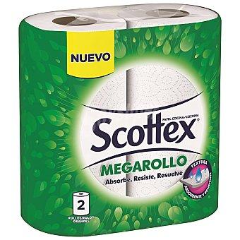 Scottex Rollo papel de cocina absorbe, resiste, resuelve 2 uds