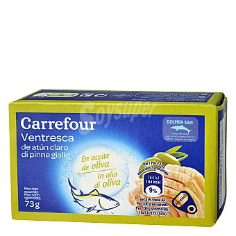 Carrefour Ventresca de atún claro en aceite de oliva 73 g