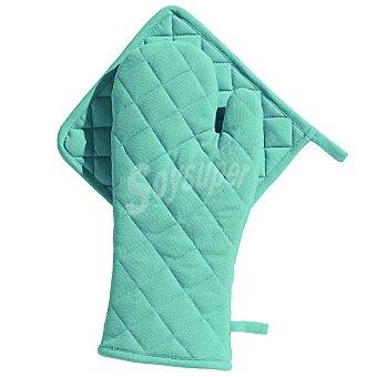 CASACTUAL Araceli set de manopla y agarrador acolchados en color turquesa