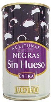 Hacendado Aceituna negra sin hueso manzanilla Lata 150 g escurrido