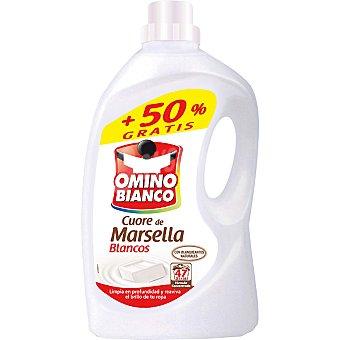 Omino Bianco Detergente máquina líquido Marsella blanco botella 31 dosis + 16 gratis Botella 31 dosis + 16 gratis