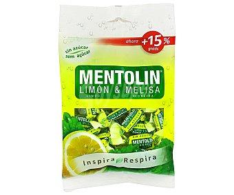 Mentolín Caramelos de limón y melisa sin azúcar 115 g
