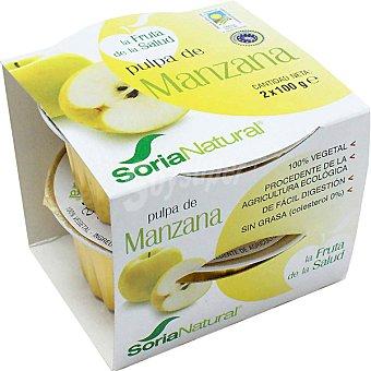 Soria Natural Pulpa de manzana estuche 200 g Pack 2x100 g