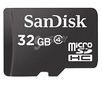 SANDISK Tarjeta de memoria Micro sdhc 32 GB alta velocidad, clase 4