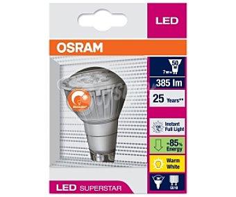 OSRAM Led GU10, 7w(equivalencia 50 Watios), Regulable, Luz cálida 1 Unidad