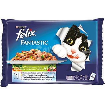Purina Felix Fantastic selección de verduras en gelatina 4 u x 100 g  - 400 g