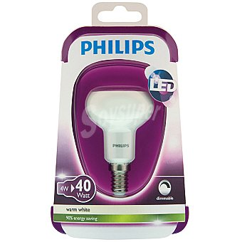 Philips Esferica blanca 4 W (40 W) lampara led blanco calido casquillo E14 (fino)