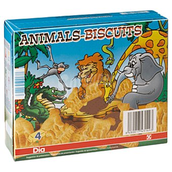 DIA Galleta animal biscuit con chocolate Caja 160 grs