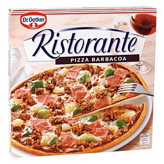 Dr. Oetker Pizza barbacoa, con carne de ternera, jamón cocido, queso Mozzarella, queso Edam y salsa barbacoa 350 g