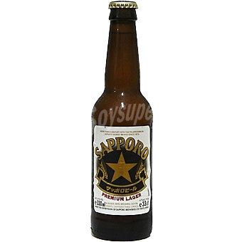 SAPPORO cerveza rubia importación japonesa  botella 33 cl