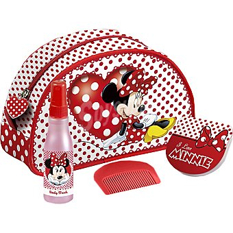 MINNIE MOUSE neceser con body fresh + espejo + peine frasco 100 ml