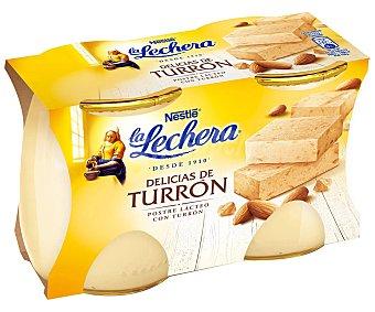 La Lechera Nestlé Postre Delicias Turrón Nestlé pack 2x125 g
