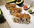Plato preparado de sushi con surimi y cebolla crujiente 3 uds SUSHI GOURMET