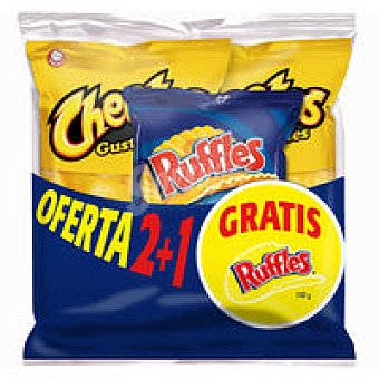 Cheetos 2 gusitones-rufles Paquete 302 g