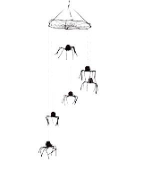 Colgante 6 arañas