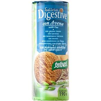 Santiveri Galletas Digestive con avena sin azúcares añadidos Envase 190 g